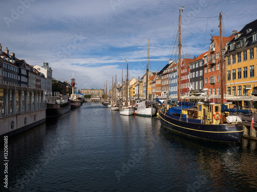 Garden Poster Scandinavia Colorful houses at the canals of Nyhavn in Copenhagen, Denmark