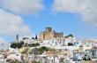 Spanish white town Santa Cruz in spring
