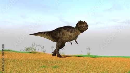 Fotografie, Tablou  3d illustration of the tyrannosaurus hunting