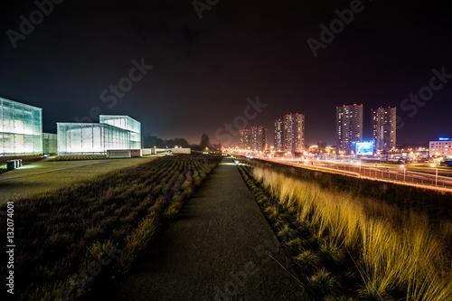 Śląskie muzeum nocą