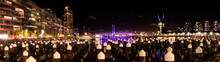 Dockland Skyline Melbourne. Westgate Bridge