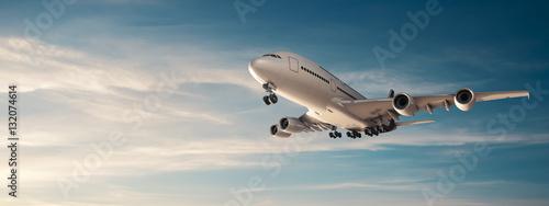 Leinwand Poster Airplane panorama