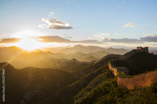 Papiers peints Muraille de Chine The Great Wall the sunset