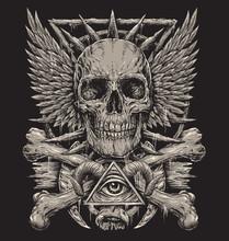 Heavy Metal Inspired Skull Des...