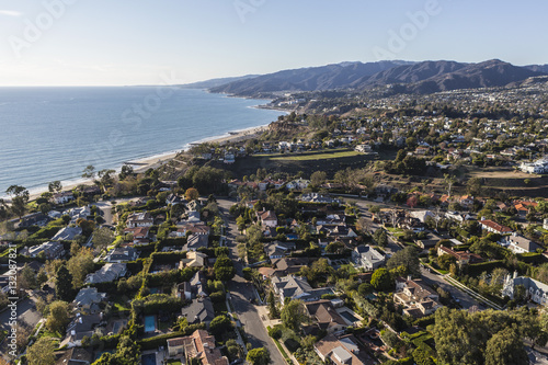 Zdjęcie XXL Aerial Los Angeles Ocean View Neighborhood