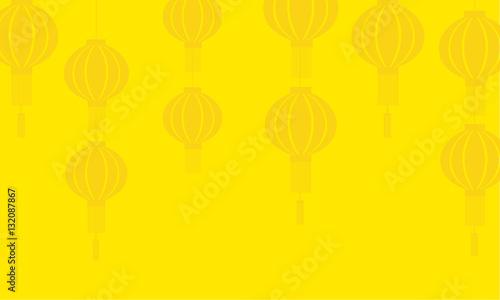 Fotobehang Zwavel geel Background of lanterns vector art