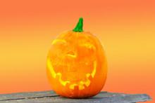 Dekoration Für Halloween Der Kürbiskopf
