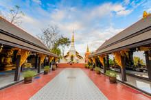 Wat Phra That Doi Phra Yarn On Top Of Mountain In Lampang, Thailand