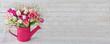canvas print picture - Blumenstrauß - Tulpen - Panorama