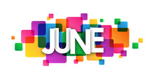 """""""JUNE"""" Vector Letters Icon"""