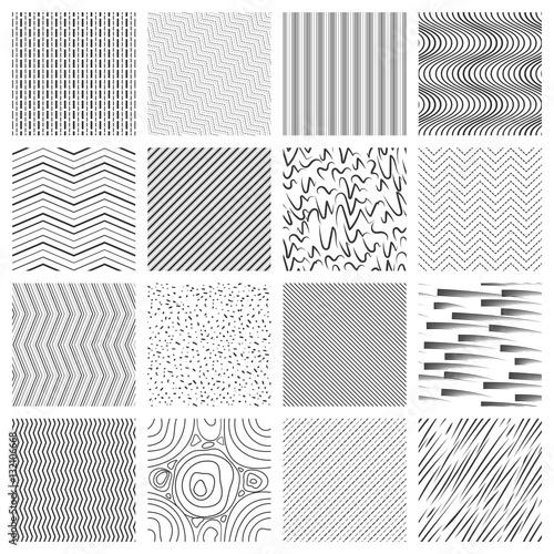 Fotografie, Obraz  Thin line pattern set