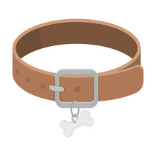 Dog Collar Icon In Cartoon Sty...