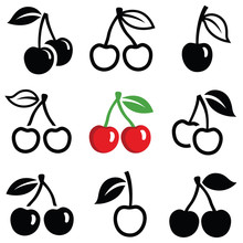 Cherry Icon Collection - Outli...