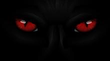 Red Eyes Black Panther On Dark