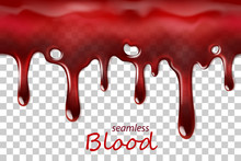 Seamless Dripping Blood Repeat...