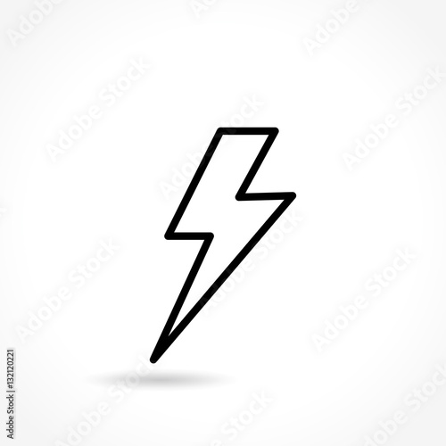 Obraz flash thin line icon - fototapety do salonu