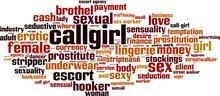 Callgirl Word Cloud Concept. V...