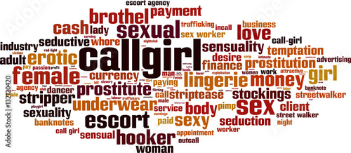 Callgirl word cloud concept. Vector illustration Slika na platnu