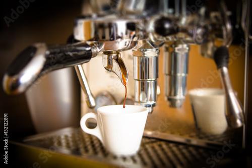 Fotografie, Obraz  Espressozubereitung