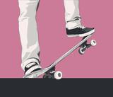 skateboard trick - nosegrind