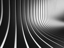 Abstract Dark Silver Stripe In...