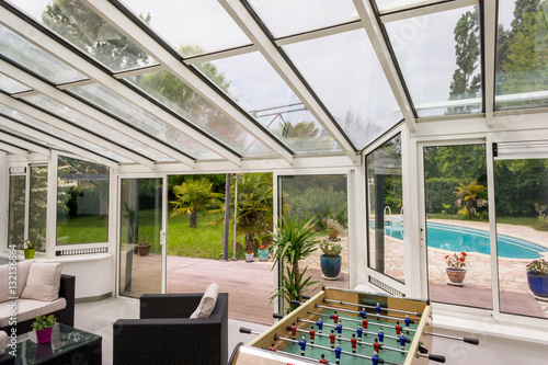 véranda terrasse piscine Canvas