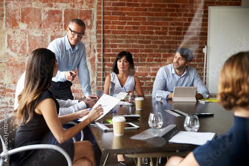 Team on business meeting Canvas-taulu