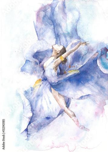 Fototapeta Baletnica w akwarelach