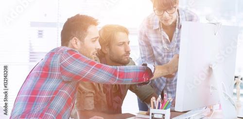 Fotografie, Obraz  Team of designers working on a computer