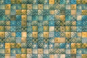 Fototapeta Mozaika tile texture with abstract mosaic