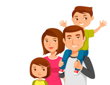 Cute Young Family With Two Kids