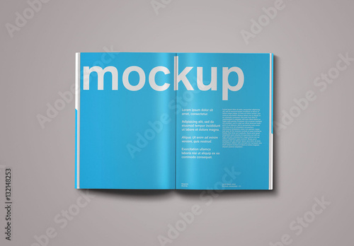 magazine editorial spread mockup buy this stock template and