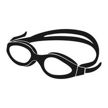 Pool Goggles Icon Vector