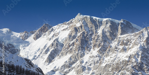 Foto op Canvas Nepal Details of the Monte Rosa mountains (Italian Alps)