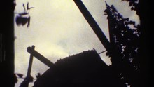 1983: This Is A Upward Camera Shot Of A Building That Doesn't Look Like It Is Quite Finished DENMARK