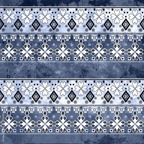 Photo sur Aluminium Style Boho Ethnic boho grunge old pattern. Tribal art print. Colorful vinta