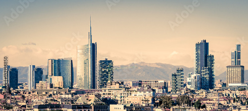 Fotobehang Milan Milano (Italy), skyline with new skyscrapers