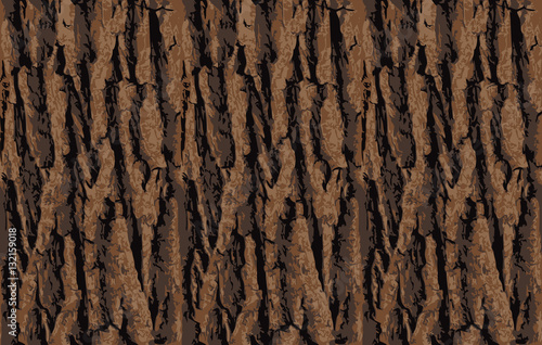 fototapeta na szkło Seamless tree bark texture. Endless wooden background for web page fill or graphic design. Oak or maple vector pattern