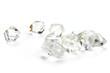Herkimer Diamanten isoliert auf weißem Hintergrund