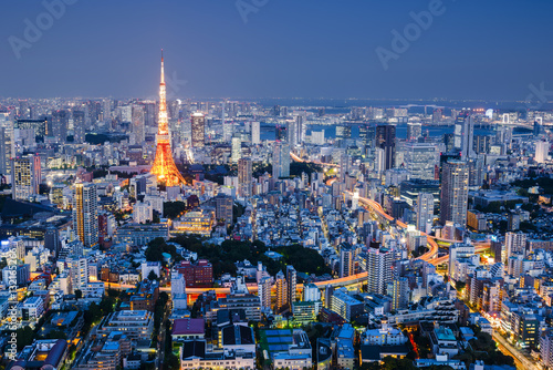 Photo  Cityscape at Night, Tokyo, Japan