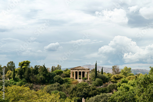 Photo  Temple of Hephaestus on Agora in Athens, Greece