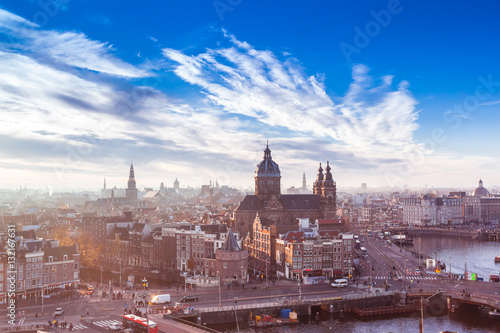 Photo  Amsterdam skyline