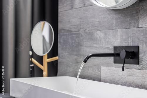 Washbasin with wall mounted tap Tapéta, Fotótapéta