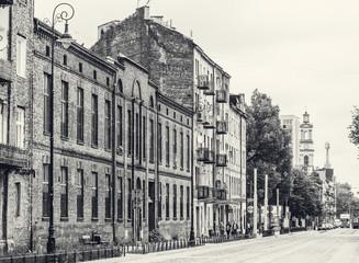 Fototapeta cityscape of Warsaw, district Praga