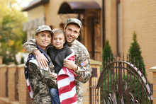 Military Family Reunited On A ...