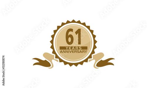 Fotografia  61 Years Ribbon Anniversary