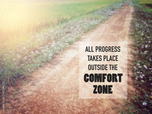Fotografie, Obraz  Inspirational quote over blur background