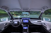 Empty Cockpit Of Vehicle, HUD(...