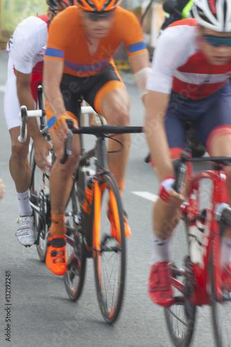 Foto op Plexiglas Fietsen Racing Cyclists, Motion Blur