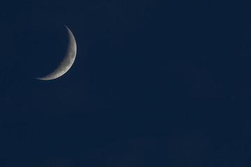 Obraz na płótnie Canvas crescent of the moon